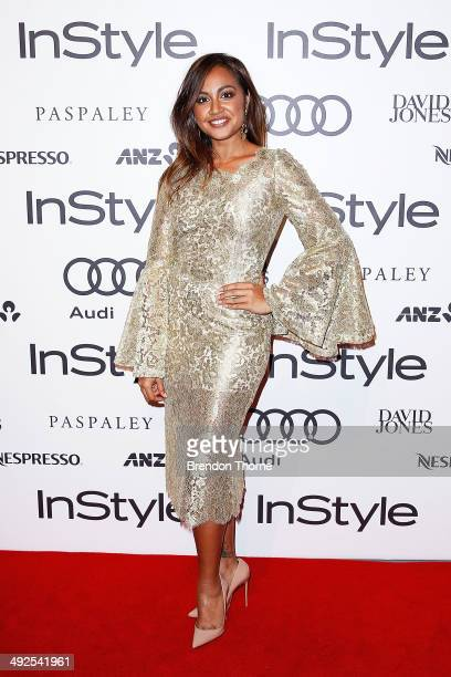 Jessica Mauboy arrives at the Instyle and Audi Women of Style Awards on May 21 2014 in Sydney Australia