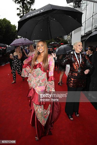 Jessica Mauboy arrives for the 30th Annual ARIA Awards 2016 at The Star on November 23 2016 in Sydney Australia