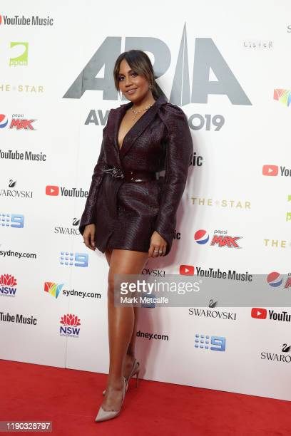 Jessica Mauboy arrives for the 33rd Annual ARIA Awards 2019 at The Star on November 27, 2019 in Sydney, Australia.