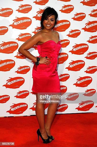 Jessica Mauboy arrives for the Australian Nickelodeon Kids' Choice Awards 2009 at Hisense Arena on November 13 2009 in Melbourne Australia