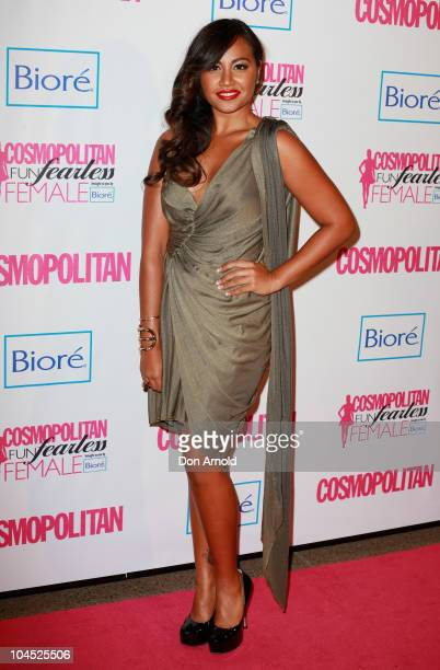 Jessica Mauboy arrives for the Cosmopolitan Fun Fearless Female Awards at the Sydney Opera House on September 29 2010 in Sydney Australia The awards...