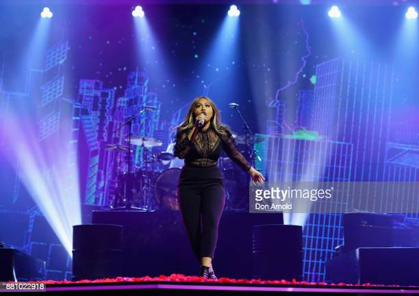 Jessica Mauboy performs during the 31st Annual ARIA Awards 2017 at The Star on November 28 2017 in Sydney Australia