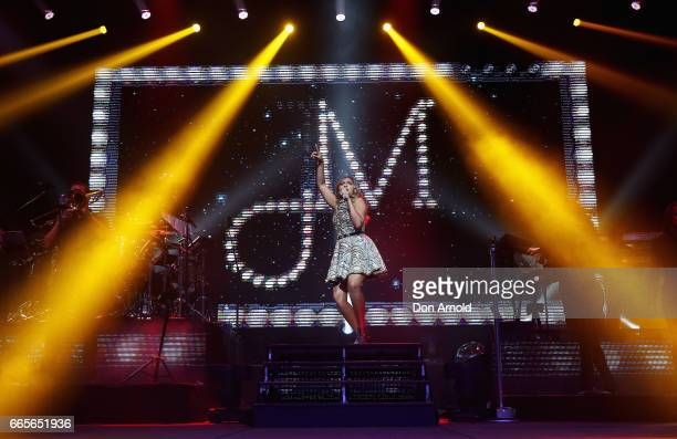 Jessica Mauboy performs on April 7 2017 at the ICC Sydney Theatre in Sydney Australia