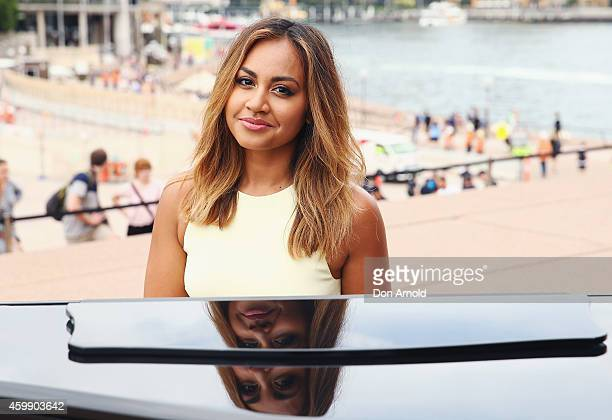 Jessica Mauboy poses at the launch of the Australia Day concerts ticket ballot at Sydney Opera House on December 4 2014 in Sydney Australia