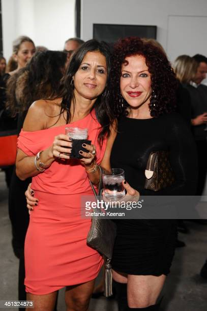 Jessica Mayerson and Tracey Fischler attend The Rema Hort Mann Foundation LA Artist Initiative Benefit Auction on November 21 2013 in Los Angeles...