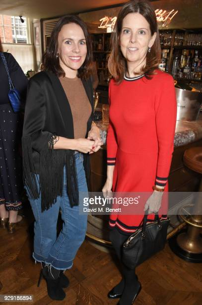 Jessica McCormack and Lucy Beresford attend the Harper's Bazaar lunch to celebrate International Women's Day at 34 Mayfair on March 8 2018 in London...