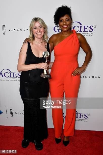 Jessica McIntosh and Zerlina Maxwell attend the 43rd Annual Gracie Awards at the Beverly Wilshire Four Seasons Hotel on May 22 2018 in Beverly Hills...
