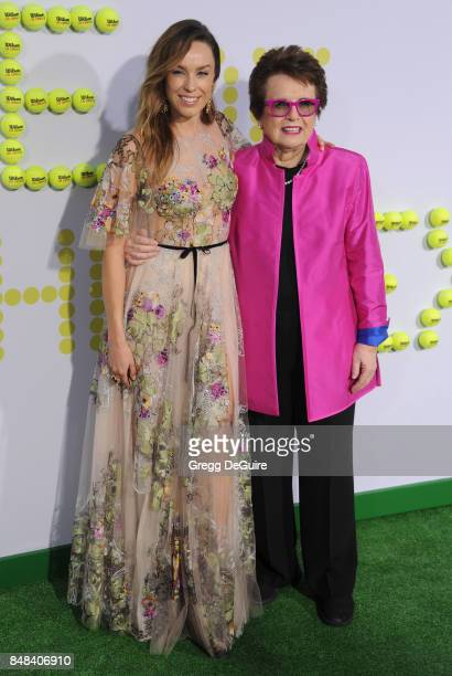 Jessica McNamee and Billie Jean King arrive at the premiere of Fox Searchlight Pictures' Battle Of The Sexes at Regency Village Theatre on September...