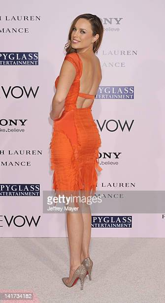 Jessica McNamee arrives at The Vow Los Angeles Premiere at Grauman's Chinese Theatre on February 6 2012 in Hollywood California