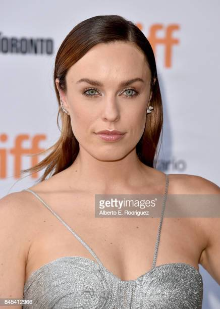 Jessica McNamee attends the Battle of the Sexes premiere during the 2017 Toronto International Film Festival at Ryerson Theatre on September 10 2017...