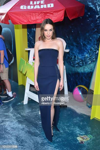 Jessica McNamee attends the premiere of Warner Bros Pictures And Gravity Pictures' The Meg at TCL Chinese Theatre IMAX on August 6 2018 in Hollywood...