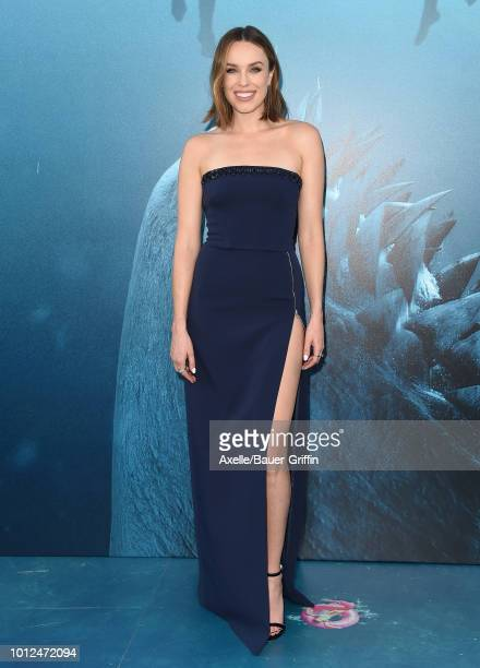 Jessica McNamee attends the premiere of Warner Bros Pictures and Gravity Pictures' 'The Meg' at TCL Chinese Theatre IMAX on August 6 2018 in...