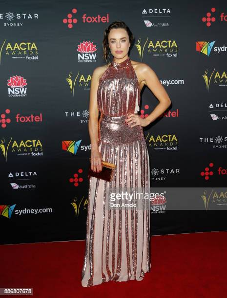 Jessica McNamee poses during the 7th AACTA Awards at The Star on December 6 2017 in Sydney Australia