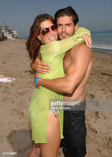 Jessica Meisels and Andrew Levitas during Jeremy Piven Birthday Party Hosted by 10 Cane Rum and N9ne Steakhouse at The Polaroid Beach House at...