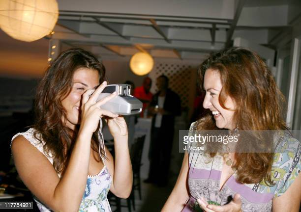 Jessica Meisels and Blair Levin during Lia Sophia Dinner at Polaroid Beach House at Polaroid Beach House in Malibu California United States
