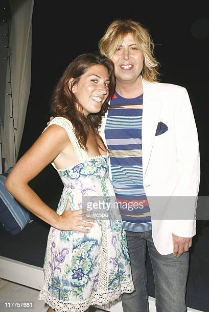 Jessica Meisels and Steven Cojocaru during Lia Sophia Dinner at Polaroid Beach House at Polaroid Beach House in Malibu California United States