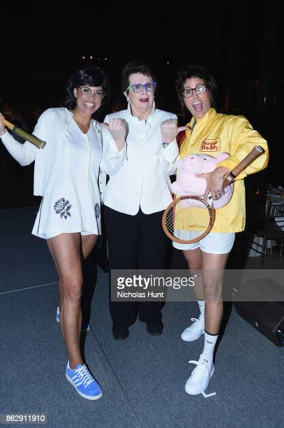 Jessica Mendoza Billie Jean King and Julie Foudy attend the The Women's Sports Foundation's 38th Annual Salute To Women in Sports Awards Gala on...