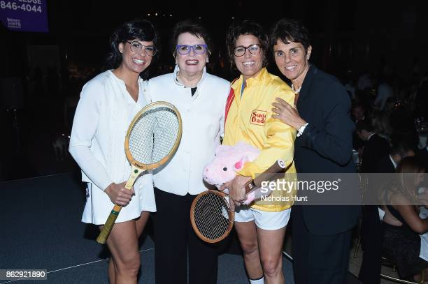 Jessica Mendoza Billie Jean King Julie Foudy and Ilana Kloss attend the The Women's Sports Foundation's 38th Annual Salute To Women in Sports Awards...