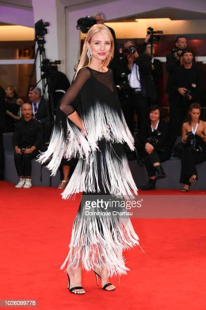 Jessica Mercedes walks the red carpet ahead of the 'Suspiria' screening during the 75th Venice Film Festival at Sala Grande on September 1 2018 in...