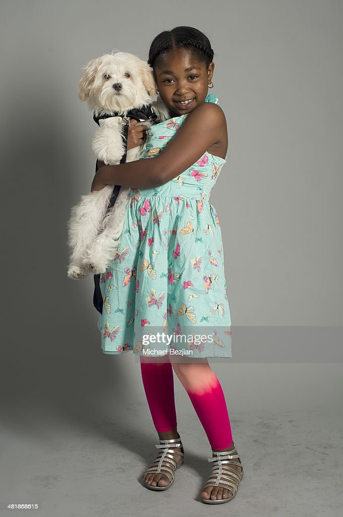 Jessica Mikayla Adams poses for a portrait at Portraits For Pooches - Portraits on March 30, 2014 in Beverly Hills, California.