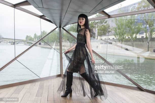 Jessica Minh Anh walks the runway during the 'J Autumn Fashion Show 2018' on September 4 2018 in Paris France