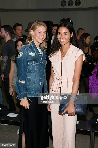 Jessica Minkoff and Arianne Atlan attend the R13 fashion show during New York Fashion Week September 2016 at Skylight Modern on September 7 2016 in...