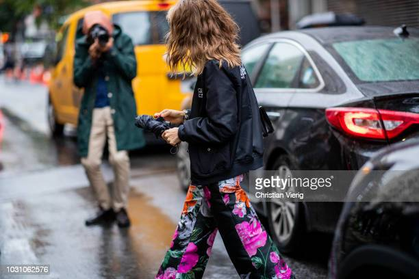 Jessica Minkoff is seen outside 31 Phillip Lim during New York Fashion Week Spring/Summer 2019 on September 10 2018 in New York City