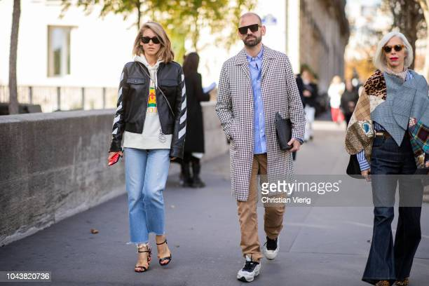 Jessica Minkoff is seen outside Haider Ackermann during Paris Fashion Week Womenswear Spring/Summer 2019 on September 29 2018 in Paris France
