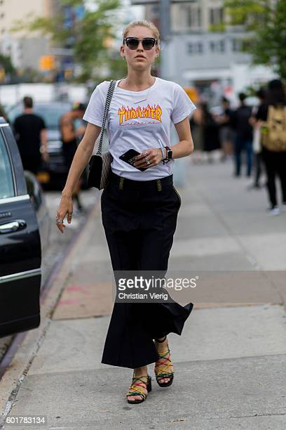 Jessica Minkoff outside Jason Wu on September 9 2016 in New York City