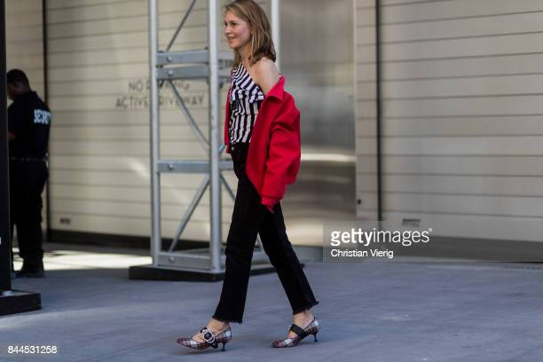 Jessica Minkoff seen in the streets of Manhattan outside Monse during New York Fashion Week on September 8 2017 in New York City