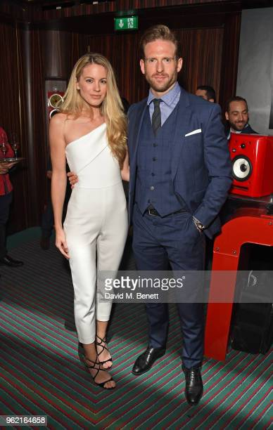 Jessica Moore and Craig McGinlay attend the launch of the JaegerLeCoultre Polaris collection at Isabel's Mayfair on May 24 2018 in London England