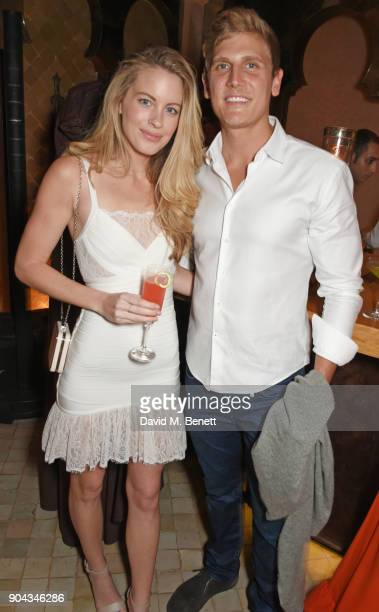 Jessica Moore and Sinclair Fischer Gray attend Orlando Bloom's birthday party with ABB FIA Formula E Championship at Hotel Amanjena on January 12...