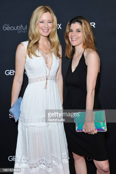 Jessica Morris and Robin Sydney attend the GENLUX Fashion And Philanthropy Magazine Issue Release Party hosted by actress/model Olivia Jordan at SUR...