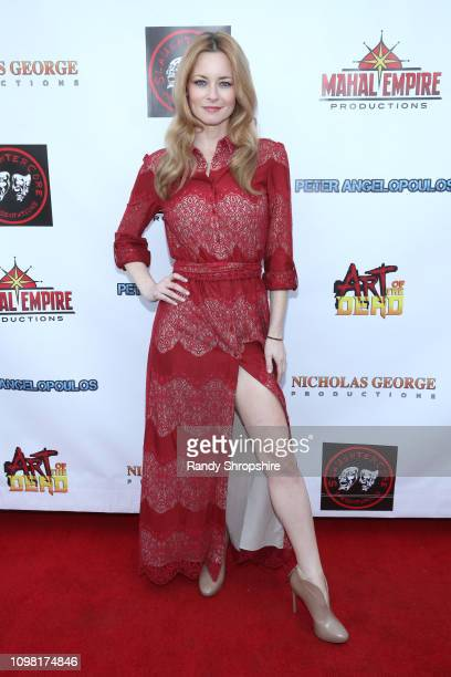 Jessica Morris attends the Art of the Dead exclusive cast and crew screening at Ahrya Fine Arts by Laemmle on January 22 2019 in Beverly Hills...