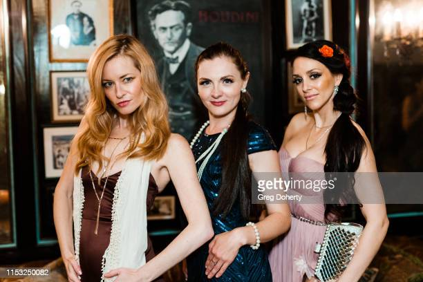 Jessica Morris Kathy Kolla and Rachele Royale attend Brooke Mark's Marriage Soiree The Magic Of Hollywood Houdini Estate on June 01 2019 in Los...