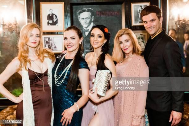 Jessica Morris Kathy Kolla Rachele Royale Michelle Beaulieu and Kash Hovey attend Brooke Mark's Marriage Soiree The Magic Of Hollywood Houdini Estate...