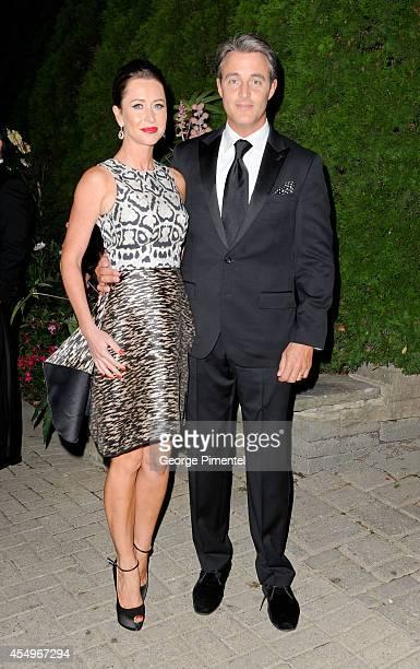 Jessica Mulroney and Ben Mulroney attend The Artists For Peace and Justice Gala at Casa Loma on September 7 2014 in Toronto Canada