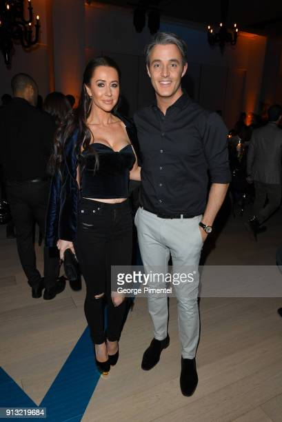 Jessica Mulroney and Ben Mulroney attend the celebration of The 5 year Anniversary Of The Concierge Club at The Globe and Mail Centre on February 1...