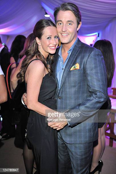 Jessica Mulroney and Ben Mulroney attend the Perla Fashion Show At Nikki Beach at TIFF Bell Lightbox on September 12 2011 in Toronto Canada