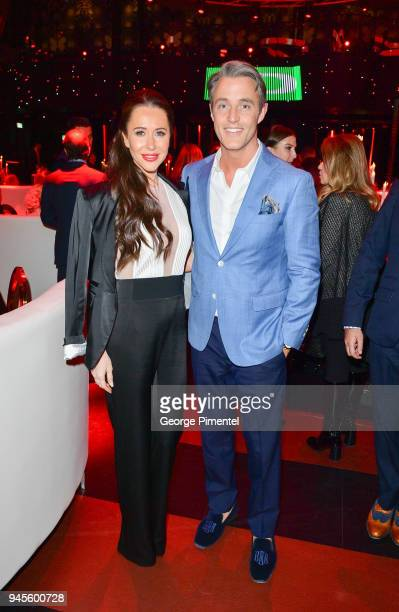 Jessica Mulroney and Ben Mulroney attend Wanderluxe benefiting Air Canada And SickKids Foundationon held at Rebel on April 12 2018 in Toronto Canada