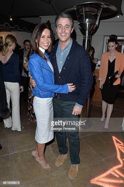 Jessica Mulroney and Ben Mulroney attends The Golden Globe Awards Oh Canada Cocktail Party at Peninsula Hotel on January 9 2014 in Beverly Hills...