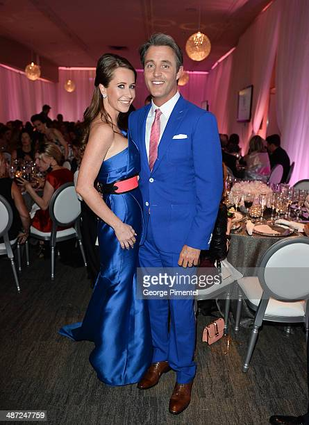 Jessica Mulroney and Ben Muroney attend the Suzanne Rogers presents Zac Posen Reception at the Carlu on April 28 2014 in Toronto Canada