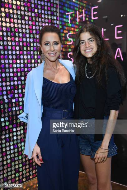 Jessica Mulroney and Leandra Medine attend Hudson's Bay Style Social at Hudson's Bay on September 13 2018 in Toronto Canada