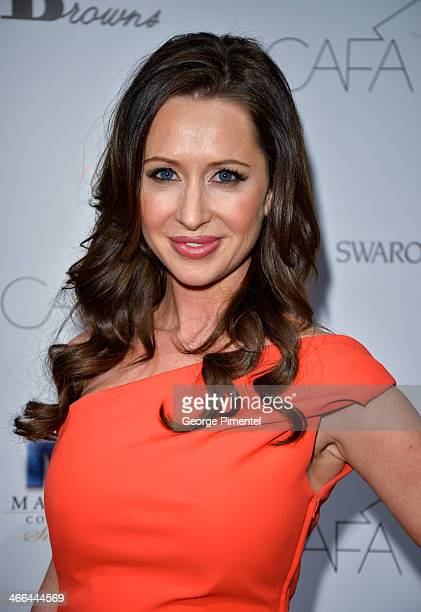Jessica Mulroney arrives at the 1st Annual Canadian Arts and Fashion Awards at the Fairmont Royal York Hotel on February 1 2014 in Toronto Canada