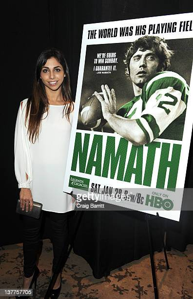 Jessica Namath attends the premiere of Namath at the HBO Theater on January 25 2012 in New York City