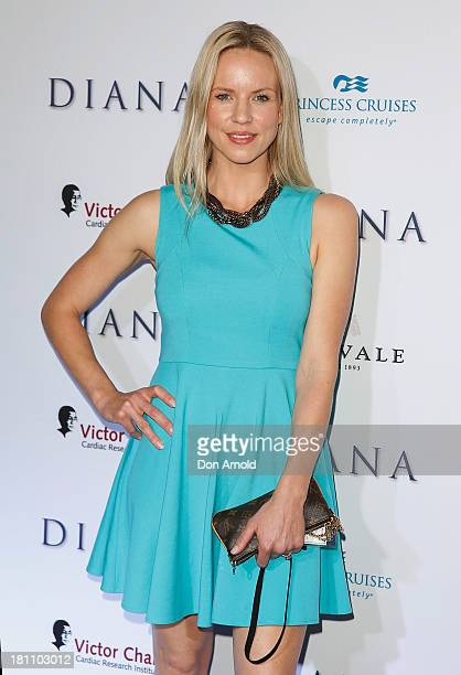 Jessica Napier arrives at the Australian premiere of Diana' at Event Cinemas George Street on September 19 2013 in Sydney Australia