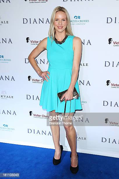 Jessica Napier arrives at the Australian premiere of 'Diana' at Event Cinemas George Street on September 19 2013 in Sydney Australia