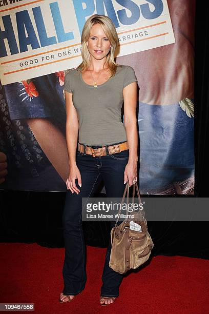Jessica Napier arrives at the Australian premiere of the movie 'Hall Pass' at The Entertainment Quarter on February 27 2011 in Sydney Australia