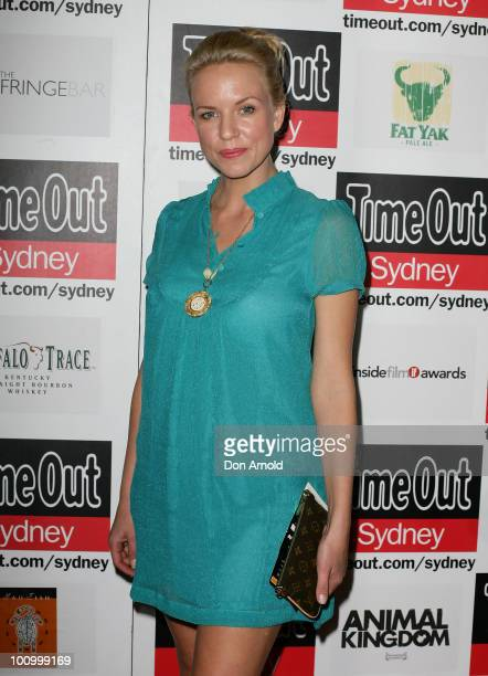 Jessica Napier arrives at the premiere of Animal Kingdom on May 25 2010 in Sydney Australia