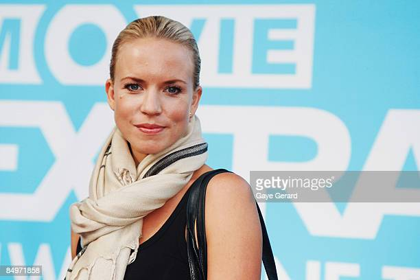 Jessica Napier arrives for the Movie Extra Tropfest 2009 in the Domain on February 22 2009 in Sydney Australia